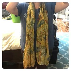 Yellow paisley scarf